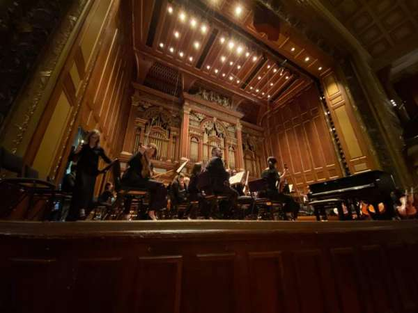 Jordan Hall at the New England Conservatory, section: Orchestra Left, row: A, seat: 11