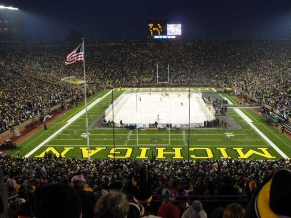 Michigan Stadium, section: 12, row: 81, seat: 18