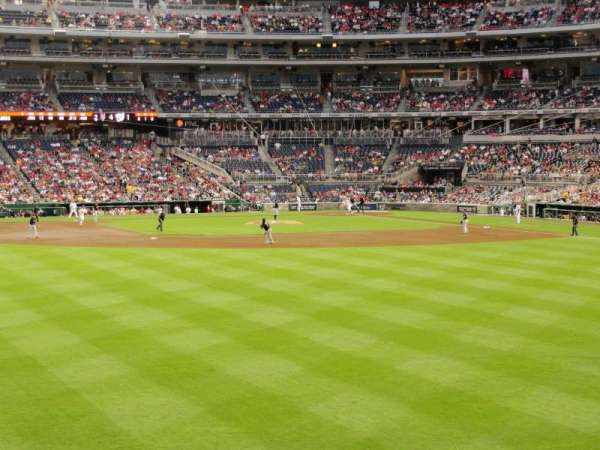 Nationals Park, section: 102, row: A