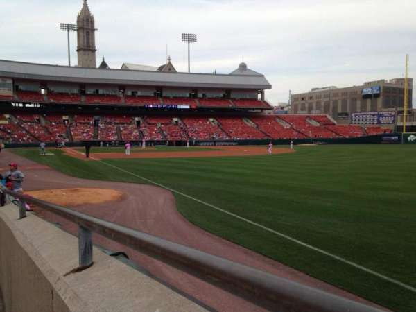 Sahlen Field, section: 124, row: E, seat: 1