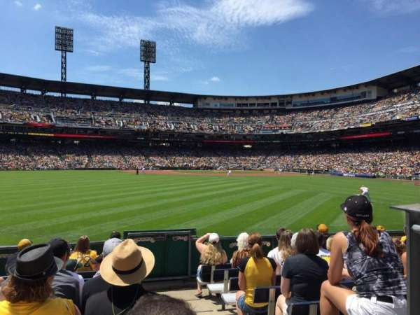 PNC Park, section: 138, row: J, seat: 1