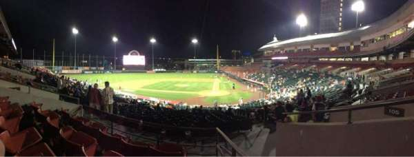 Sahlen Field, section: 107, row: DD, seat: 1