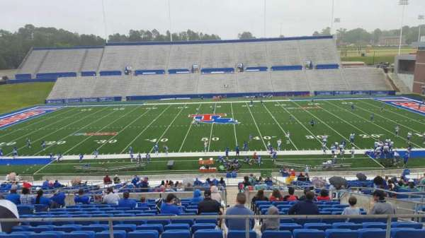Joe Aillet Stadium, section: EE, row: 41, seat: 8