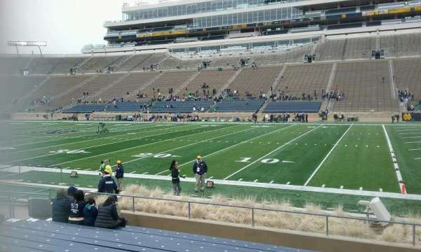 Notre Dame Stadium, section: 7, row: 17, seat: 10