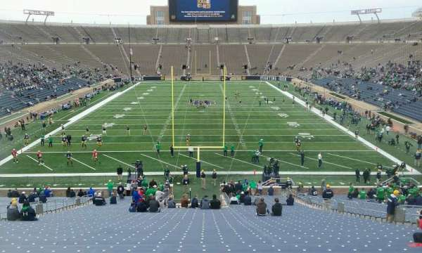 Notre Dame Stadium, section: 1, row: 57, seat: 12