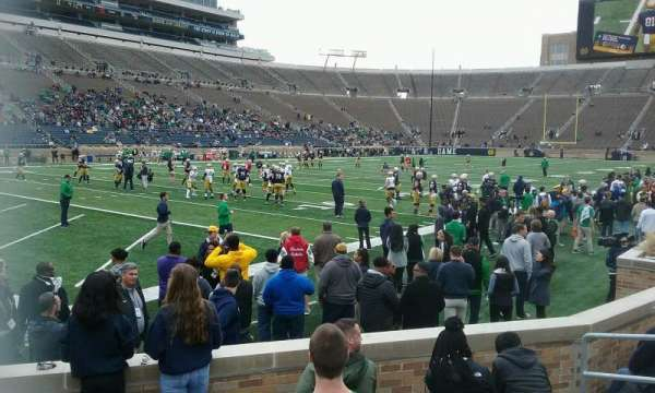 Notre Dame Stadium, section: 33, row: 10, seat: 8