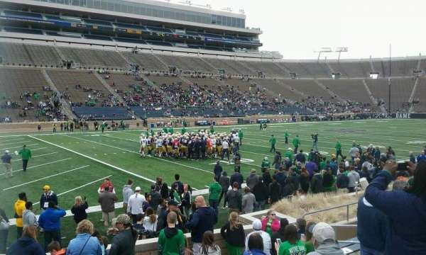 Notre Dame Stadium, section: 32, row: 16, seat: 12
