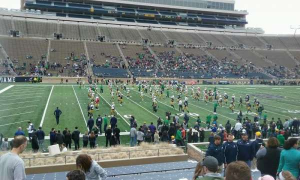 Notre Dame Stadium, section: 31, row: 27, seat: 18