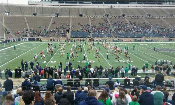 Notre Dame Stadium, section: 30, row: 33, seat: 19