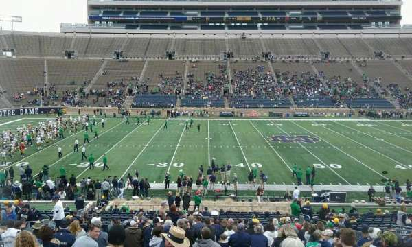 Notre Dame Stadium, section: 29, row: 43, seat: 14