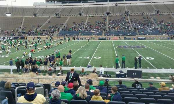 Notre Dame Stadium, section: 28, row: 19, seat: 26
