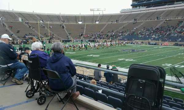 Notre Dame Stadium, section: 26, row: ADA, seat: 12
