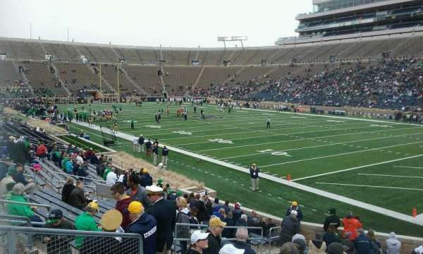 Notre Dame Stadium, section: 23, row: 27, seat: 11