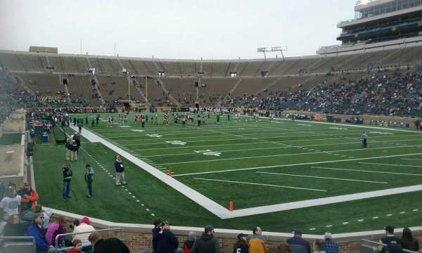 Notre Dame Stadium, section: 22, row: 20, seat: 6