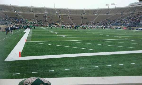 Notre Dame Stadium, section: 21, row: 5, seat: 8