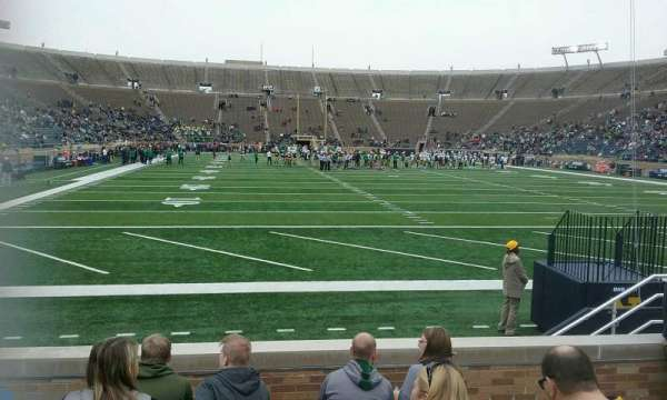 Notre Dame Stadium, section: 20, row: 10, seat: 12