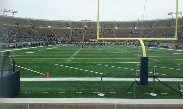 Notre Dame Stadium, section: 19, row: 7, seat: 24