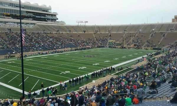 Notre Dame Stadium, section: 15, row: 49, seat: 23