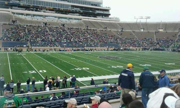 Notre Dame Stadium, section: 12, row: 24, seat: 20