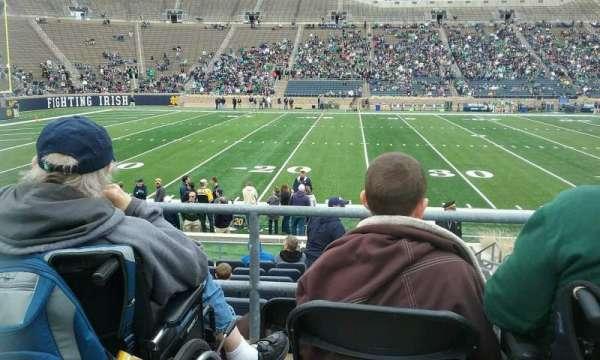 Notre Dame Stadium, section: 12, row: ADA, seat: 1