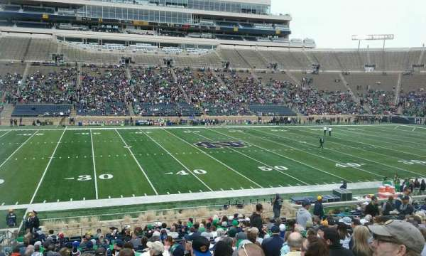 Notre Dame Stadium, section: 11, row: 33, seat: 24