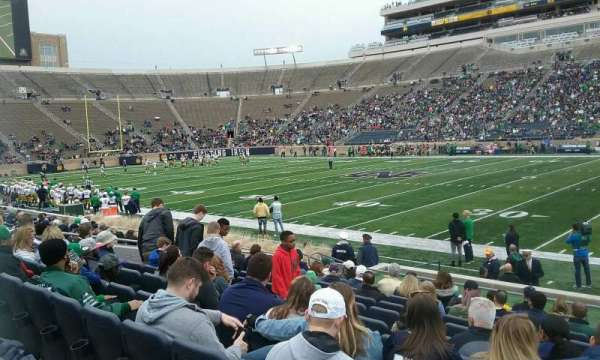 Notre Dame Stadium, section: 8, row: 18, seat: 8