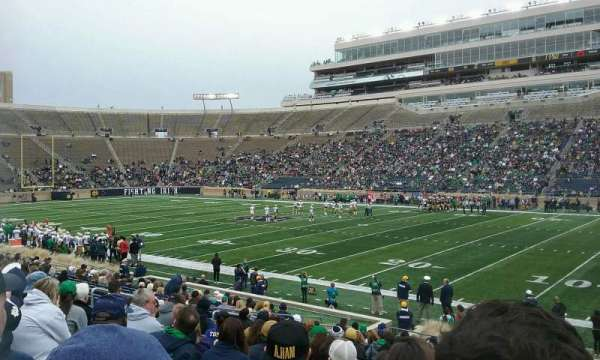 Notre Dame Stadium, section: 7, row: 24, seat: 8