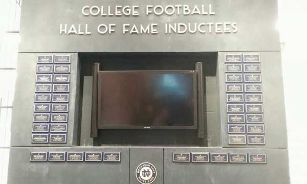 Notre Dame Stadium, section: hall of fame