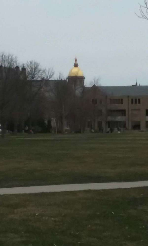 Notre Dame Stadium, section: golden dome