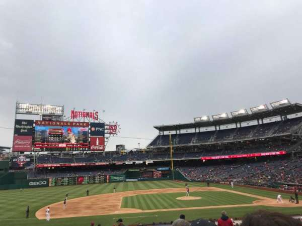Nationals Park, section: 116, row: HH, seat: 14