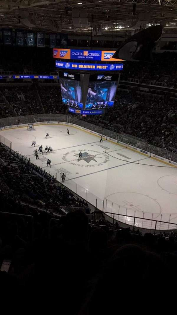 SAP Center, section: 225, row: 17, seat: 15