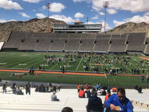 Sun Bowl Stadium, section: 21, row: 31, seat: 5