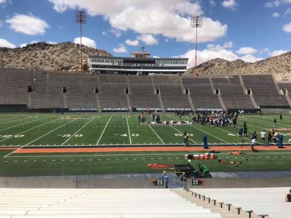 Sun Bowl Stadium, section: 23, row: 20, seat: 5