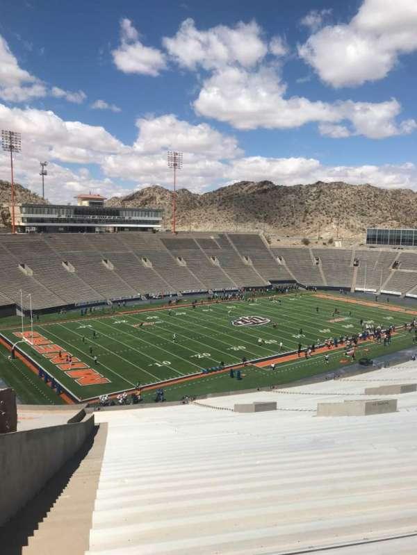 Sun Bowl Stadium, section: 26, row: 84, seat: 38