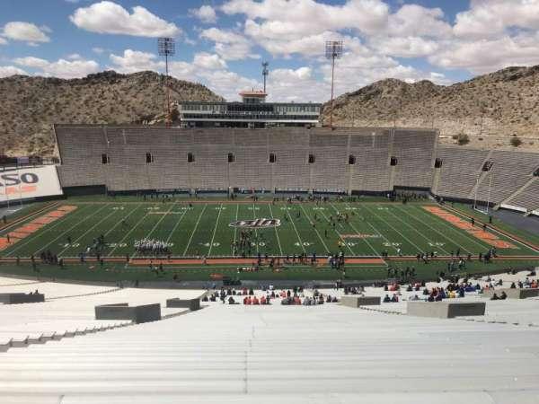 Sun Bowl Stadium, section: 22, row: 84, seat: 22