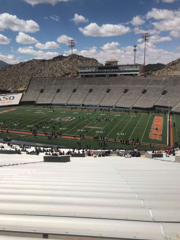 Sun Bowl Stadium, section: 19, row: 84, seat: 21