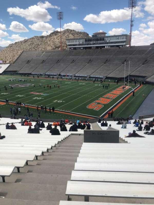 Sun Bowl Stadium, section: 17, row: 49, seat: 38