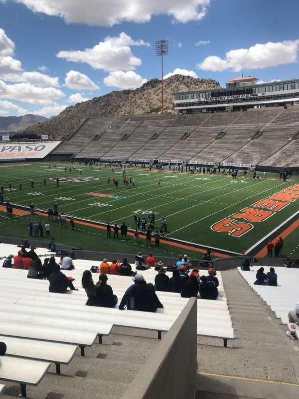 Sun Bowl Stadium, section: 18, row: 37, seat: 34