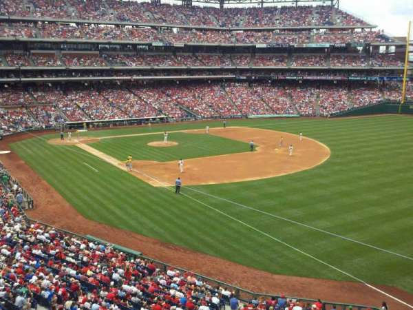 Citizens Bank Park, section: 208, row: 1, seat: 18