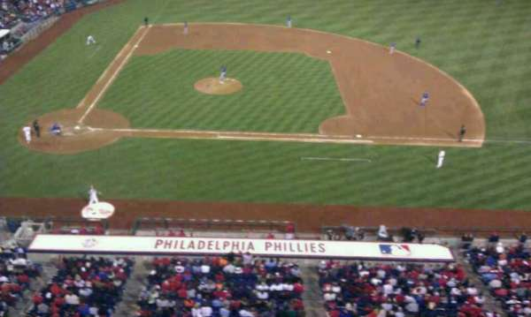 Citizens Bank Park, section: 316, row: 1, seat: 1