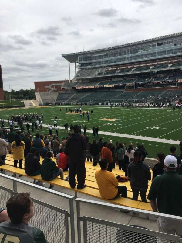 McLane Stadium, section: 120, row: 17, seat: 1