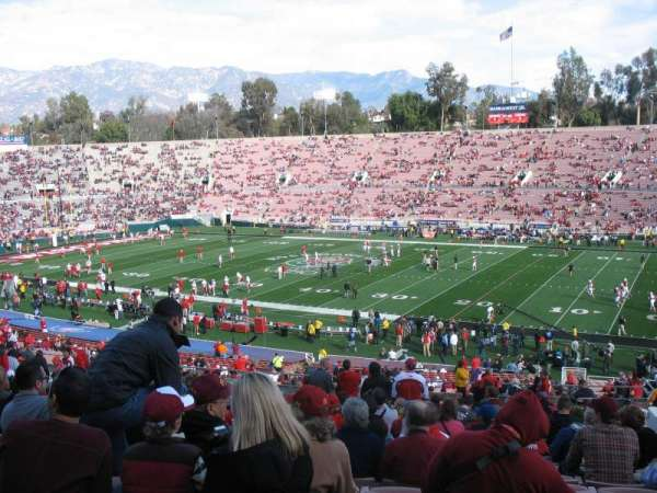 Rose Bowl, section: 21-L, row: 56, seat: 14