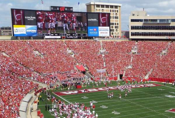 Camp Randall Stadium, section: AA, row: 1, seat: 10