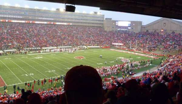 Camp Randall Stadium, section: H, row: 64, seat: 25