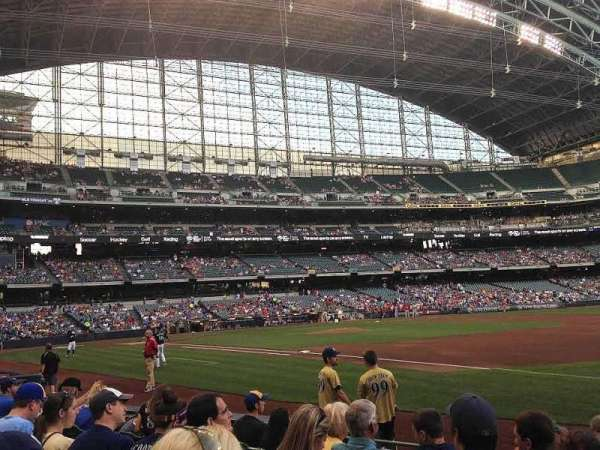 Miller Park, section: 110, row: 8, seat: 9