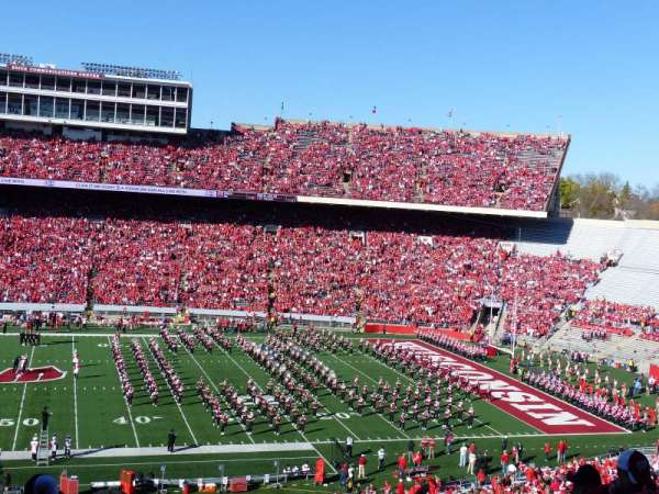 Camp Randall Stadium, section: T, row: 70, seat: 15