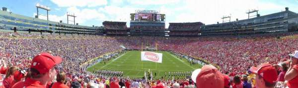 Lambeau Field, section: 100, row: 49, seat: 16