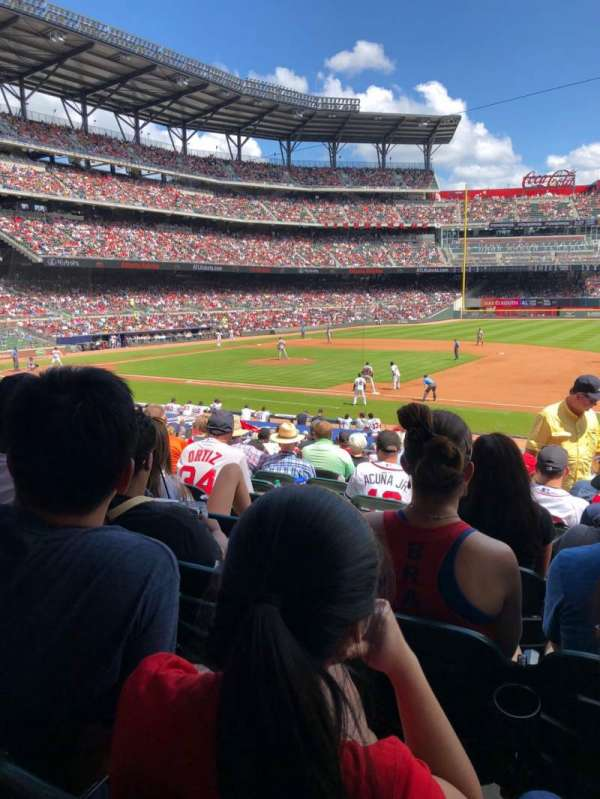 SunTrust Park, section: 116, row: 10, seat: 6