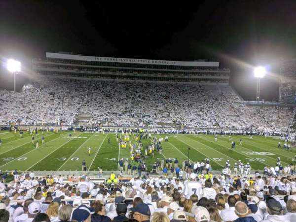Beaver Stadium, section: WF, row: 18, seat: 17