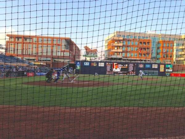 Durham Bulls Athletic Park, section: 106, row: B, seat: 1